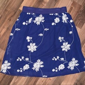 Metro Wear Women's Floral Embroidered Skirt Size L